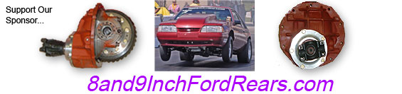 8 and 9 Inch Ford Rears